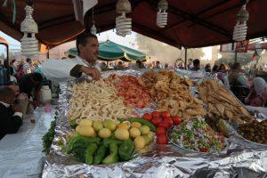 Marrakesz, owoce morza