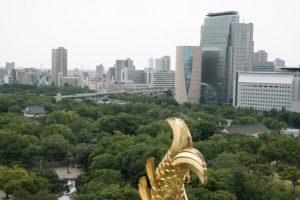Widok na Osakę z zamku