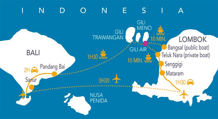 Gili Air Gili Trawangan Gili Meno Bali Lombok